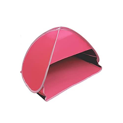 Beach Sun Shelter, Portátil Automatic Pop Up Beach Tent Anti UV Protección solar Reposacabezas Tienda Mini tiendas de tiendas de tiendas de sombra para disfrutar del sol en la playa para obtener una