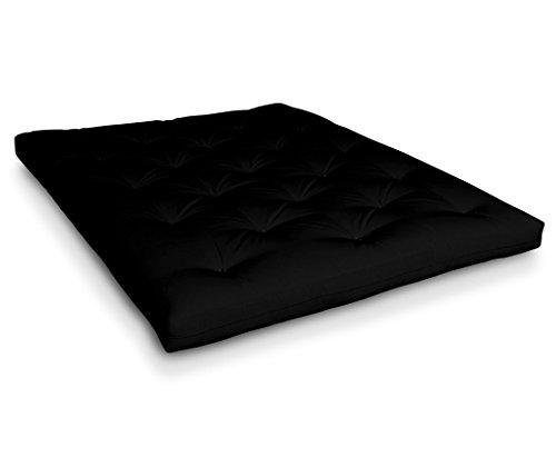 Futon Roku Baumwollfuton Futonmatratze mit 8X Baumwolle von Futononline, Größe:160 x 200 cm, Color Futon SE Amazon:Schwarz/Filz schwarz