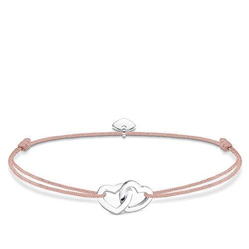 THOMAS SABO Armband Herzen 925 Sterlingsilber/Nylon