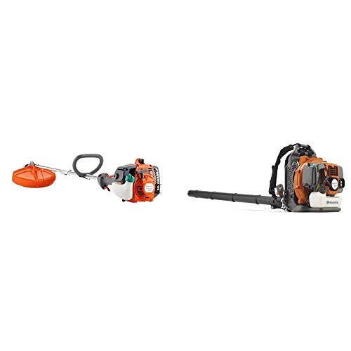 Fantastic Deal! Husqvarna 128LD 17 in. String Trimmer and 350BT 50.2cc Professional Backpack Leaf Bl...