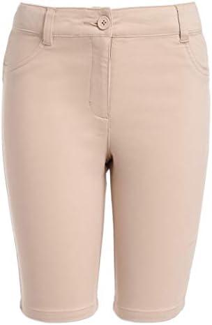 Nautica Girls Big School Uniform Stretch Bermuda Short Khaki 10 product image