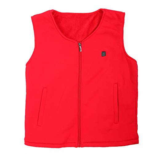 Why Choose Electric Heated Vest Waistcoat Thermal Warm Clothing USB Heating Outdoor Winter Vest (Red...