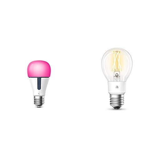 TP-LINK Bombilla LED funciona con Alexa altavoz inteligente y Google Home + Bombilla de filamento Inteligente WiFi, E27, 7 W, Funciona con Amazon Alexa (Echo y Echo Dot), Google Home y IFTTT