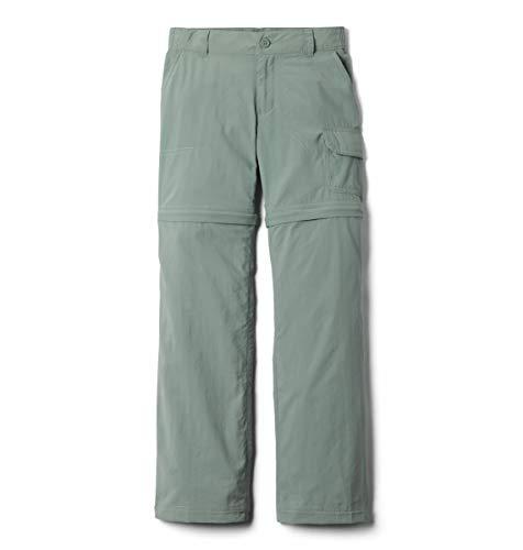 Columbia Girl's Silver Ridge IV Convertible Pants, Moisture Wicking, Sun Protection, Light Lichen, Medium