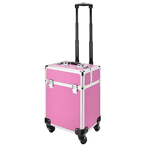 AMASAVA Beauty Case, Trolley professionale Caso di trucco Rolling Trolley...