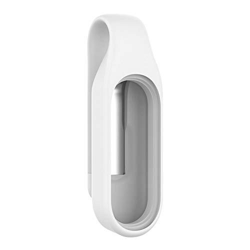 Funda protectora para reloj inteligente, soporte de hebilla de metal de silicona, antipérdida, protector de parachoques, compatible con Band 5 Tracker