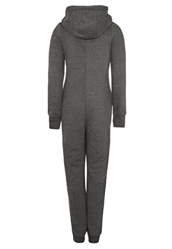 Eight2Nine Damen Sweat Overall | Kuscheliger Jumpsuit | Einteiler aus bequemen Sweat-Material einfarbig Dark-grey1 S/M - 3