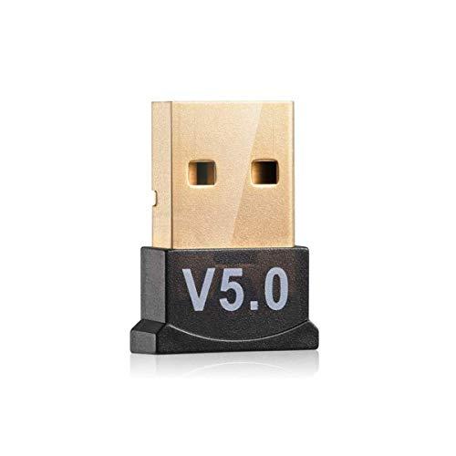 TYGA Store Adaptador Bluetooth USB 5.0 para ordenador portátil de sobremesa, Dongle para auriculares Bluetooth, altavoz, teclado, ratón, compatible con todos los Windows 10 8.1 8 7 XP Vista (cuarto)