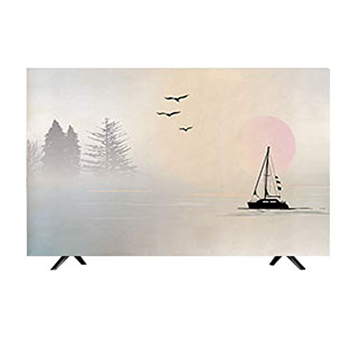 MFMYUANHAN Tela De Cubierta De TV LCD 55 Pulgadas 43 TV Set Cubierta De Protección Solar Cubierta De TV Curvada Colgante Cubierta De TV De Dormitorio(Size:22in)