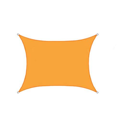 CH-GTJ Toldo Vela De Sombra Rectangular, Protección Rayos UV Y Poliéstere Impermeable para Exterior, Jardin,Lightorange,5X6m