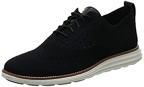 Cole Haan Men's Original Grand Knit Wing TIP II Sneaker, Black/Ivory, 11 M US