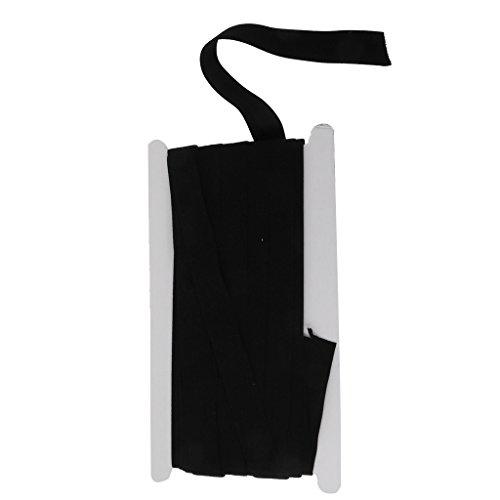 IPOTCH Bandes Élastique Plat Longues Élastiques Bandes Élastiques à Cordon Couture Noir