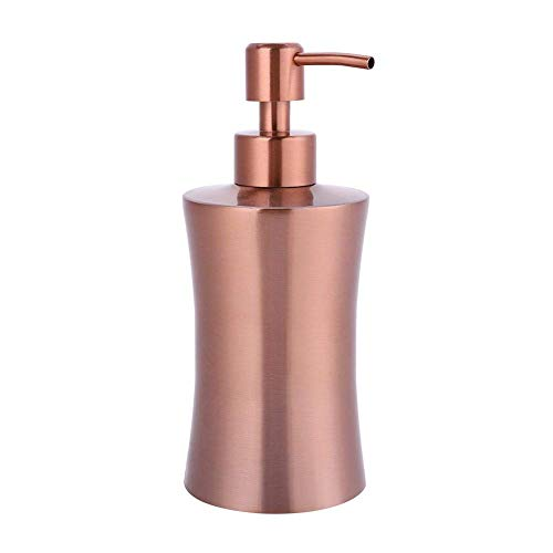 Dispensador jabón, 304 Acero inoxidable líquido Desinfectante de manos Recipiente de fregadero Jabón líquido Loción Dispensador (400ml)