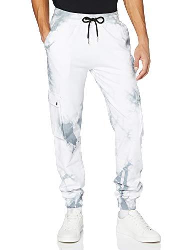 Gianni Kavanagh Light Grey Dripping Ice Tie Dye Joggers Chá