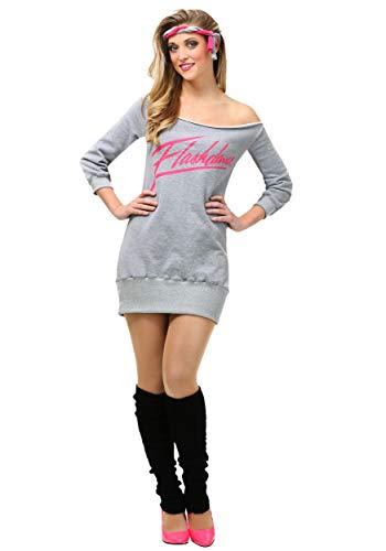 Adult Flashdance Costume Women's Plus Size Alex Owens Audition Costume 1X Gray