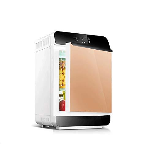 Tbaobei-Baby Mini Nevera 28 Ltres portátil Mini Nevera for el Coche y Home refrigerador de Temperatura Muy Compacto iman (Color : Gold, Size : 34X34X54CM)