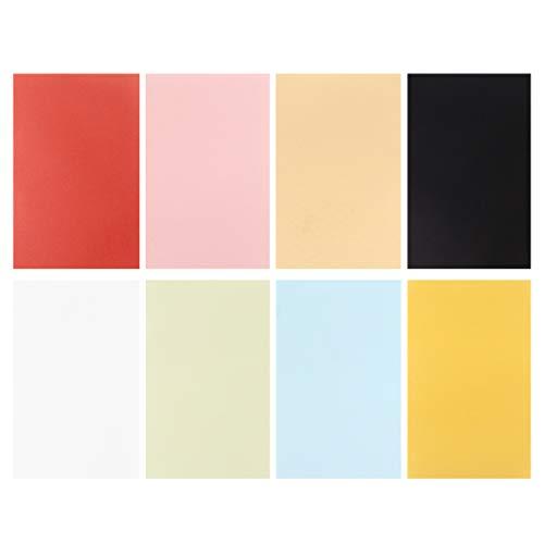 Milisten - 50 fogli di carta pergamena colorata traslucida, per stampa e disegno 50 Sheet Colorato
