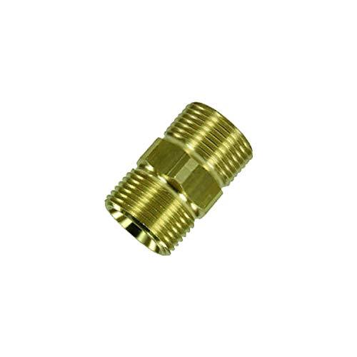 Koppeling - slangaansluiting voor Kärcher zoals 4.403-002.0 geschikt voor hogedrukslangen van Kärcher en Kränzle hogedrukreiniger HD & HDS met M22 schroefdraad - zonder rubber