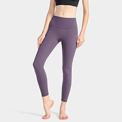 ArcherWlh Pantalones De Yoga,The Same Yoga Pants Europe and The United States Cross-Border High Waist Hips no 尴尬 launched Slimming Running Fitness Sports Pants-Purple Sauce_M
