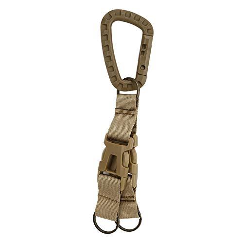 Qqmora Hebilla de Llavero Kit de Llavero para Exteriores Correas Hebilla de Gancho Cinturón de Cintura Resistente Ligero Portátil Durable Mini para Acampar al Aire Libre, mochileros, Senderismo