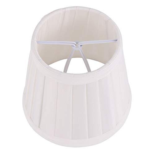 Lurrose Pantalla pequeña para lámpara, hecha a mano, color blanco para lámparas de pie de mesa