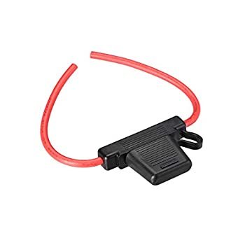 uxcell Fuse Holder In-line 8AWG Waterproof Fuse Holder Black for MAXI Fuse