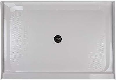 """Jacuzzi CAT6048SCXXXXW Jacuzzi CAT6048SCXXXX Catalina 60"""" X 48"""" Rectangular Shower Pan with Single, Lo"""