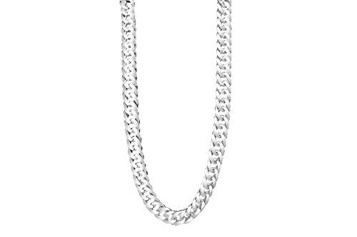 TAIPAN Silberkette Herren Doppel Panzerkette - Glänzend 60cm 6mm Echt 925 Sterlingsilber Halskette für Ihn mit Schmuckzertifikat/Silber Kette Orginal Herren/Geschenke für Männer