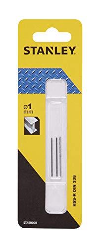 Stanley STA50000-QZ 3 Brocas HSS-R laminadas para metal ø 1mm, Negro