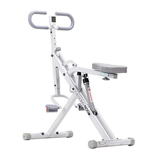 ZJY Cyclette Verticale, Squat Assist, Full Ab Body Equitazione - con Display Digitale Sedile Regolabile e Resistenza - Adatto a casa e Palestra