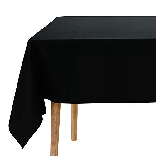 UMI. by Amazon Tischdecke Wasserabweisend Tischdecke Lotuseffekt Tischtücher 137x274 cm Schwarz