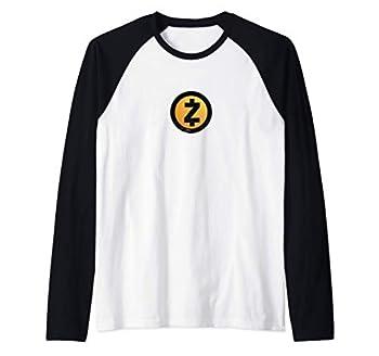 Zcash ZEC Cryptocurrency Raglan Baseball Tee