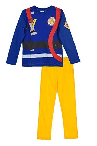 Feuerwehrmann-Sam - Pigiama da Bambino, Motivo: Camion dei Pompieri Blu/Giallo Large