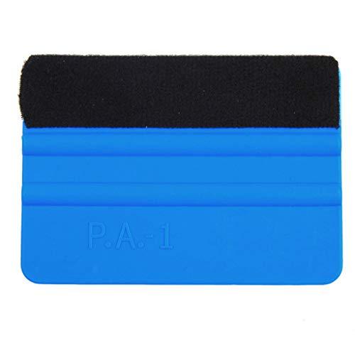 Tharv Rasqueta limpiacristales, rasqueta de plástico Azul con Borde de Fieltro, Herramienta de aplicación de calcomanías, 1 Pieza, Medium