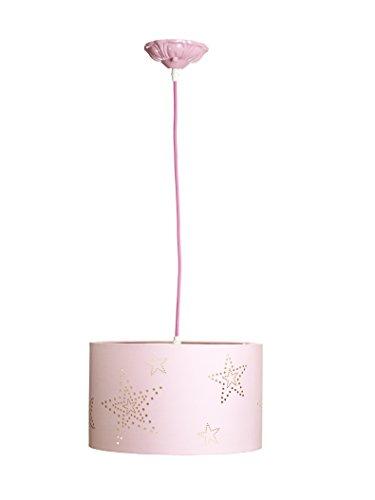 Aratextil Laura plafondlamp, katoen, roze, 30 x 18 cm