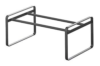 Yamazaki Home Adjustable Shoe Rack-Spacesaving Storage Solution One Size Black