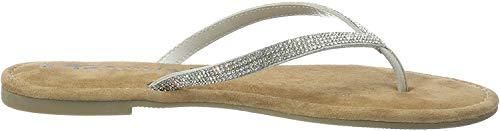 Tamaris Damen 1-1-27124-22 Pantoletten, Silber (Silver Glam 919), 37 EU