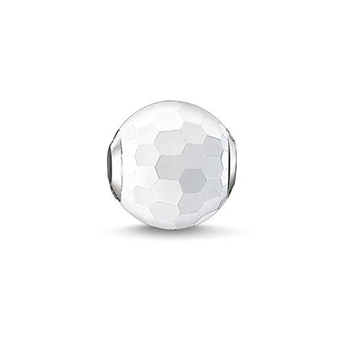 Thomas Sabo Damen-Bead Karma Beads 925 Sterling Silber Achat facettiert weiß K0126-130-14