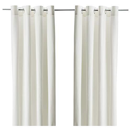 IKEA MERETE–Curtains, 1Paar gebleicht weiß 144,8x 248,9cm 401.119.87
