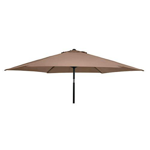 Florabest Sonnenschirm Kurbelschirm mit Lichtschutzfaktor 80 und 3 Positionen Knickvorrichtung für optimalen Schattenwurf