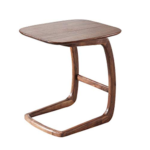 Household products Modern Side End Table, Wood Top Walnut Rectangle TV Trays, Side/Snack/End/Couch/Console Table with Tabletop, Laptop Desk, Couch Table for Living Room, Bed Room and Home Office