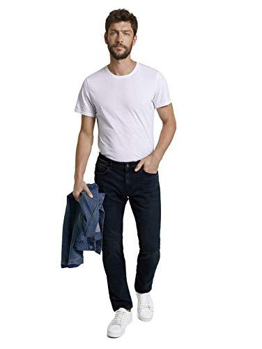 TOM TAILOR Herren Marvin Straight Jeans, Dark Blue Denim, 36W / 36L