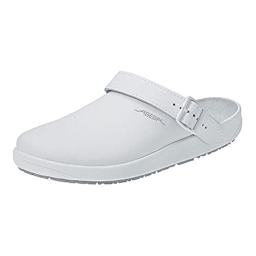 Abeba Clog 9200 - rubber Glattleder weiß, zertifiziert, 45