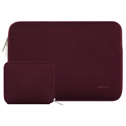 MOSISO Laptop Sleeve Kompatibel mit 13-13,3 Zoll MacBook Pro, MacBook Air, Notebook Computer, Wasserabweisend Neopren Tasche mit Klein Fall, Weinrot