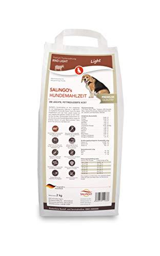 SALiNGO Premium Hundefutter trocken Rind Light für übergewichtige Hunde, Diätfutter mit niedrigem Fettgehalt (2kg)
