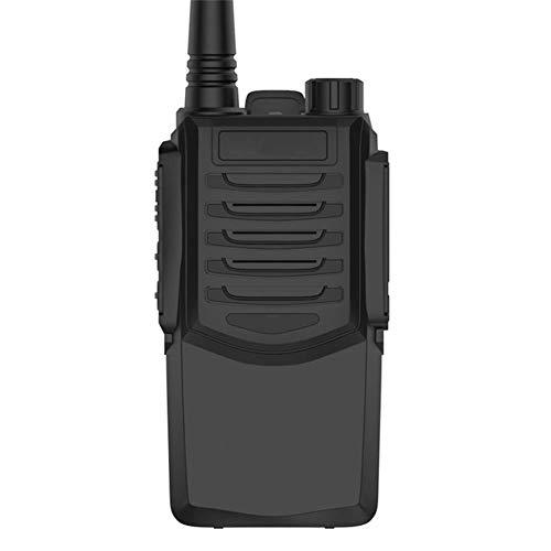Zxh Interphone Walkie Talkie,Al Aire Libre 3 Km Portátil Impermeable Ingenieria Inalámbrico Walkie (Negro, 1 Par)