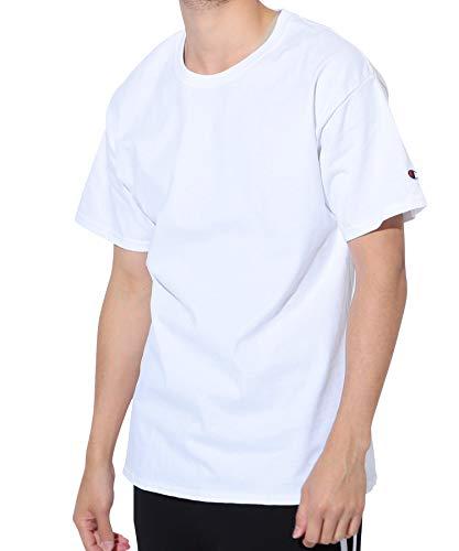 Champion(チャンピオン) Authentic ベーシックTシャツ メンズ 半袖 コットン 無地 M ホワイト