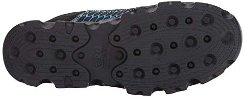 Timberland PRO Men's Powertrain Sport Alloy Safety Toe Athletic Work Shoe, Black Ripstop Nylon with Blue, 9 Wide