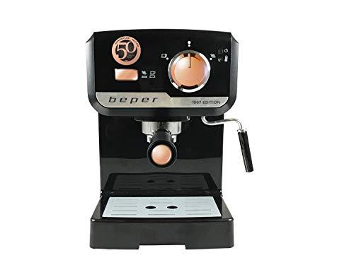 Beper BC. 001Maschine für Espresso 1140W 1,5Liter 15Bars, 1140W, schwarz