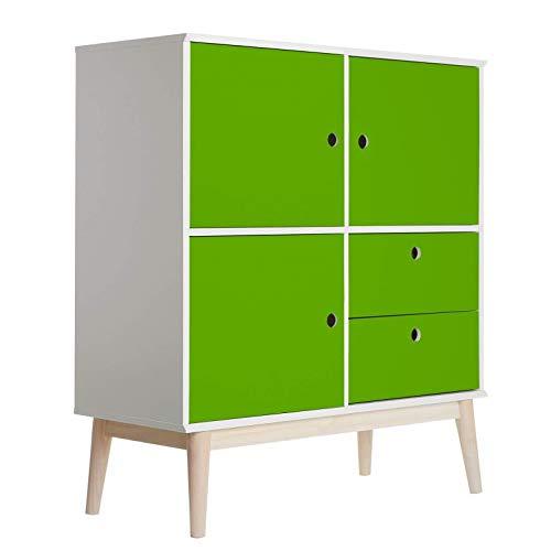Meubelfolie - Uni lindegroen plakfolie folie decoratie voor meubels zelfklevend PVC groen Wall-Art 100x300 cm groen